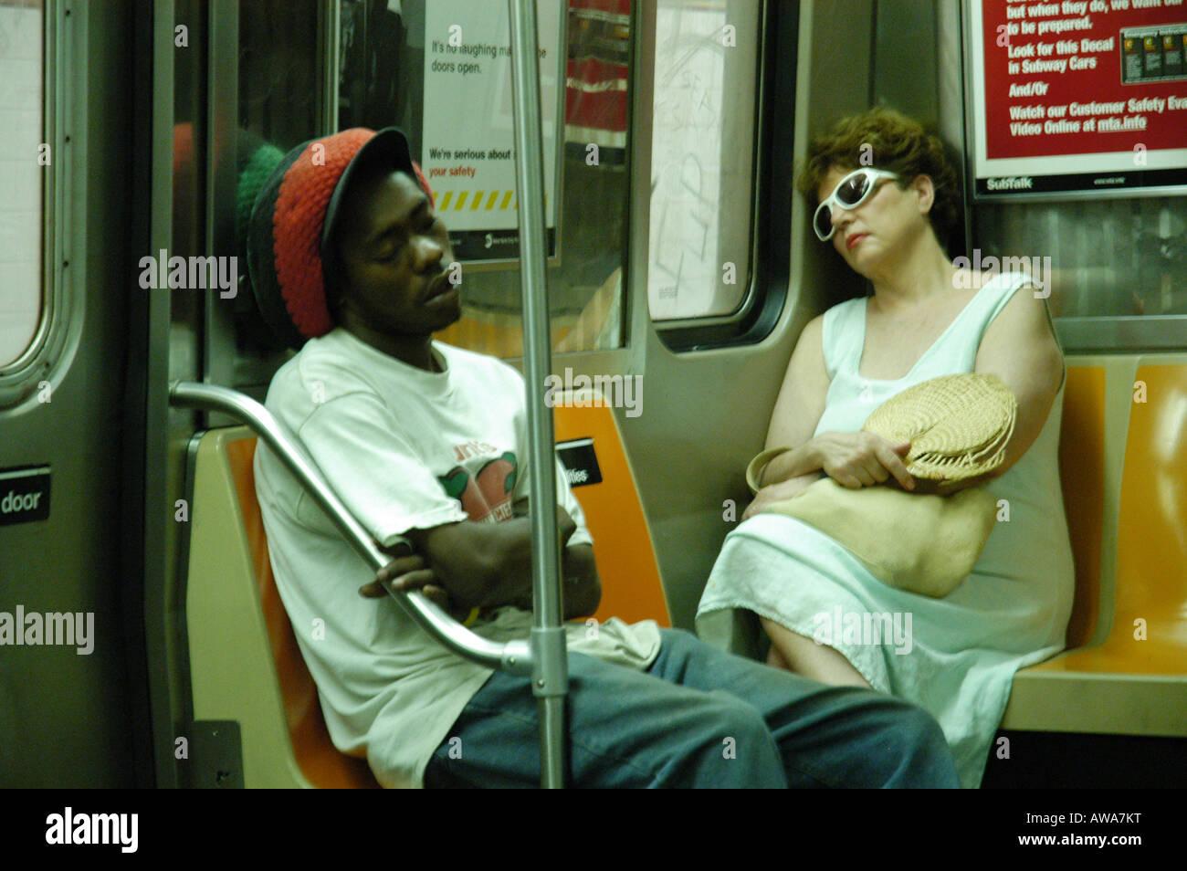 El metro de Nueva York, EE.UU. Foto de stock