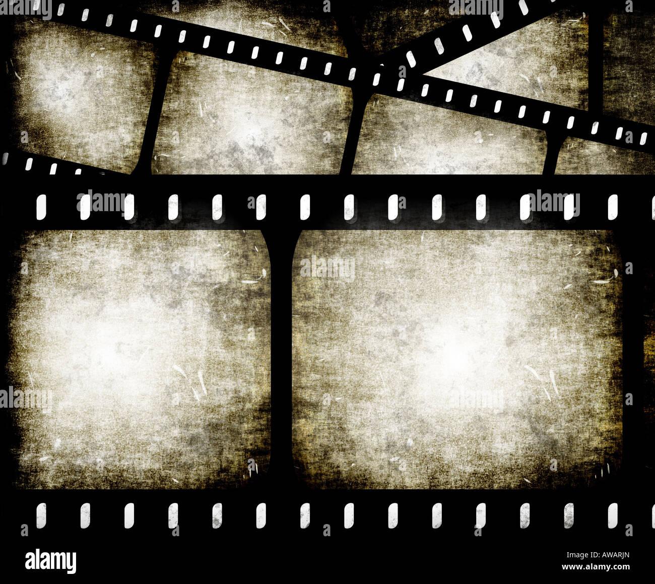Composición abstracta de fotogramas de película o tiras de película Imagen De Stock