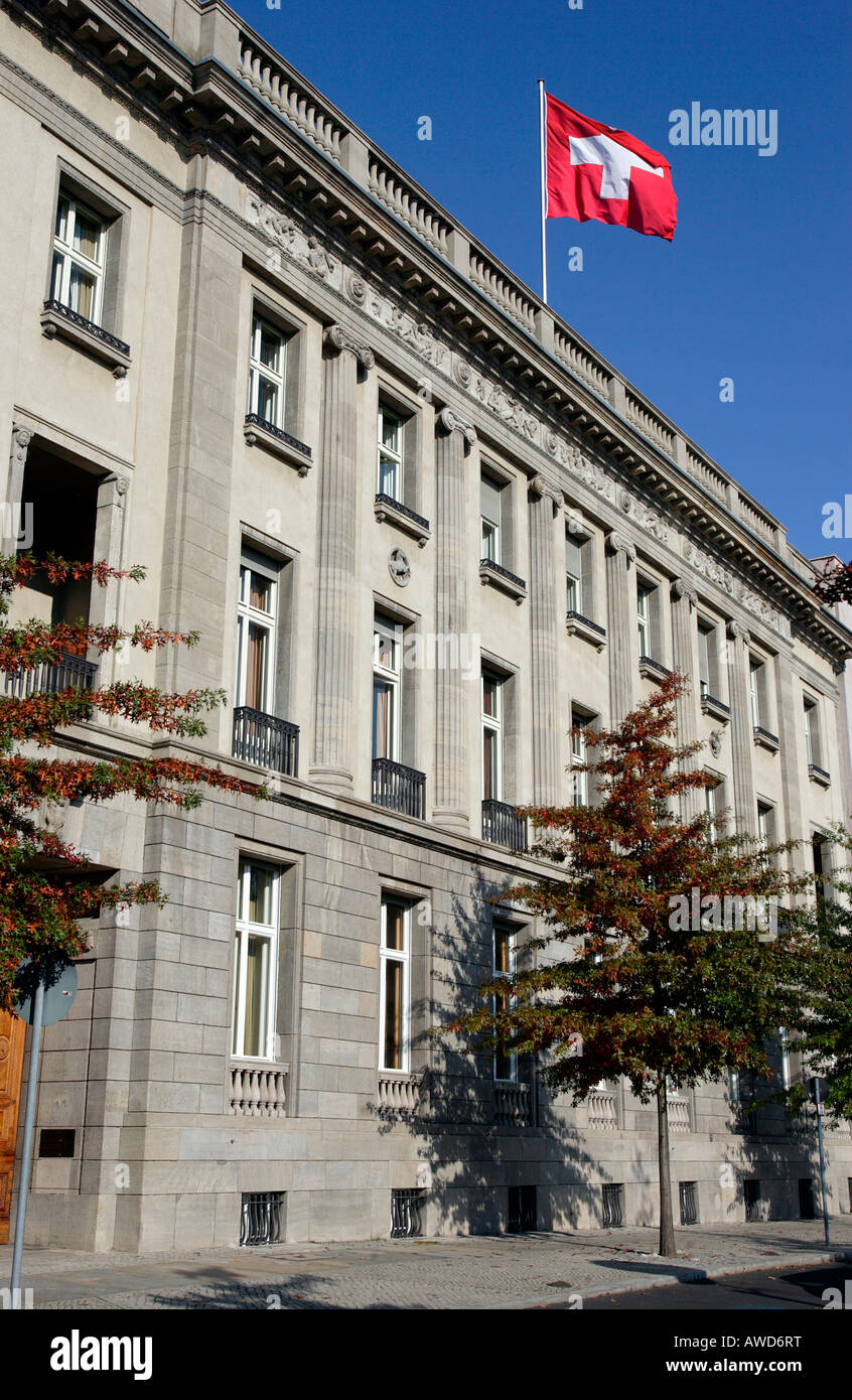 Embajada suiza en Berlín, Alemania, Europa Foto de stock