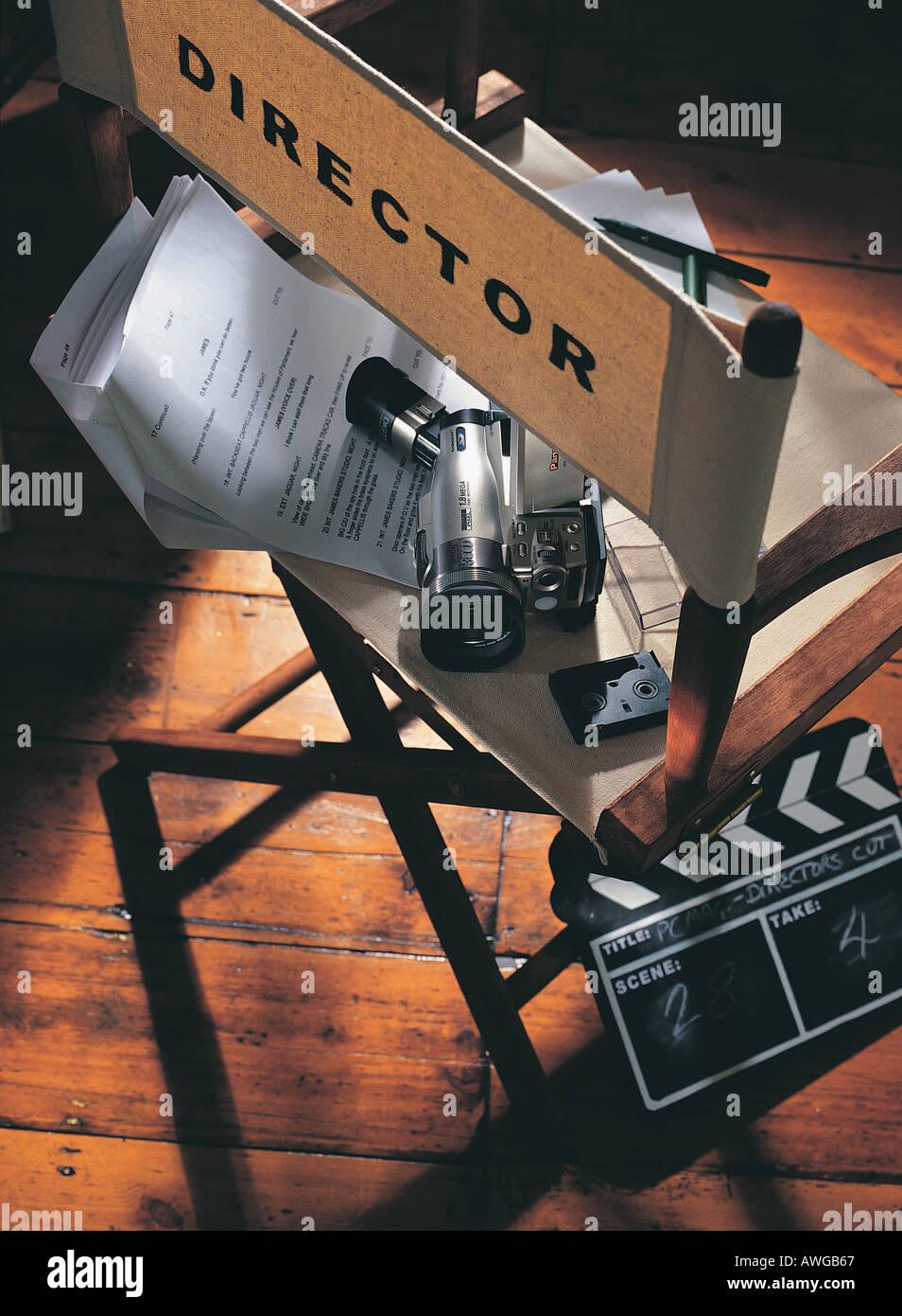 Un script de directores y badajo junta Imagen De Stock