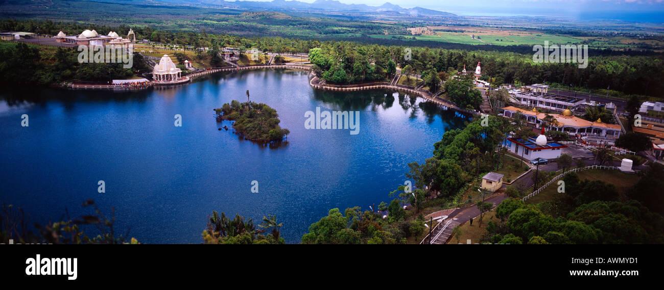 Grand Bassin, Mauricio sitio sagrado hindú Resumen Imagen De Stock