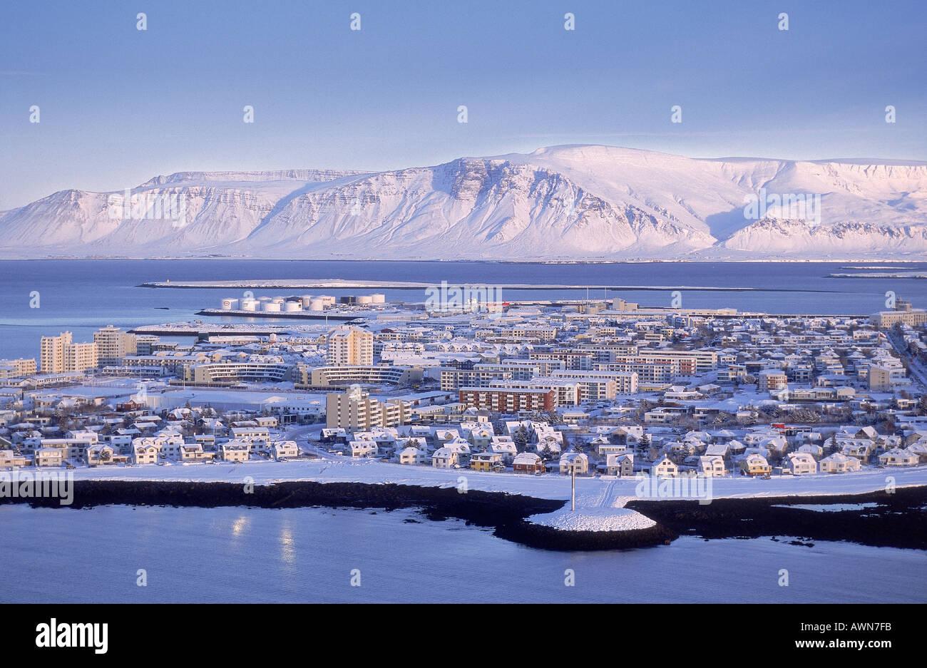 Invierno, Reykjavik Islandia Imagen De Stock