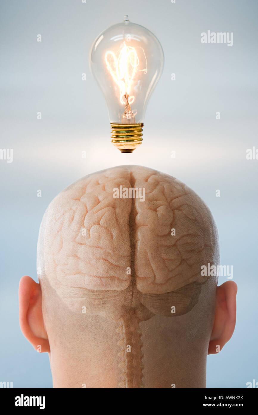 Cuando una persona tiene una idea Imagen De Stock