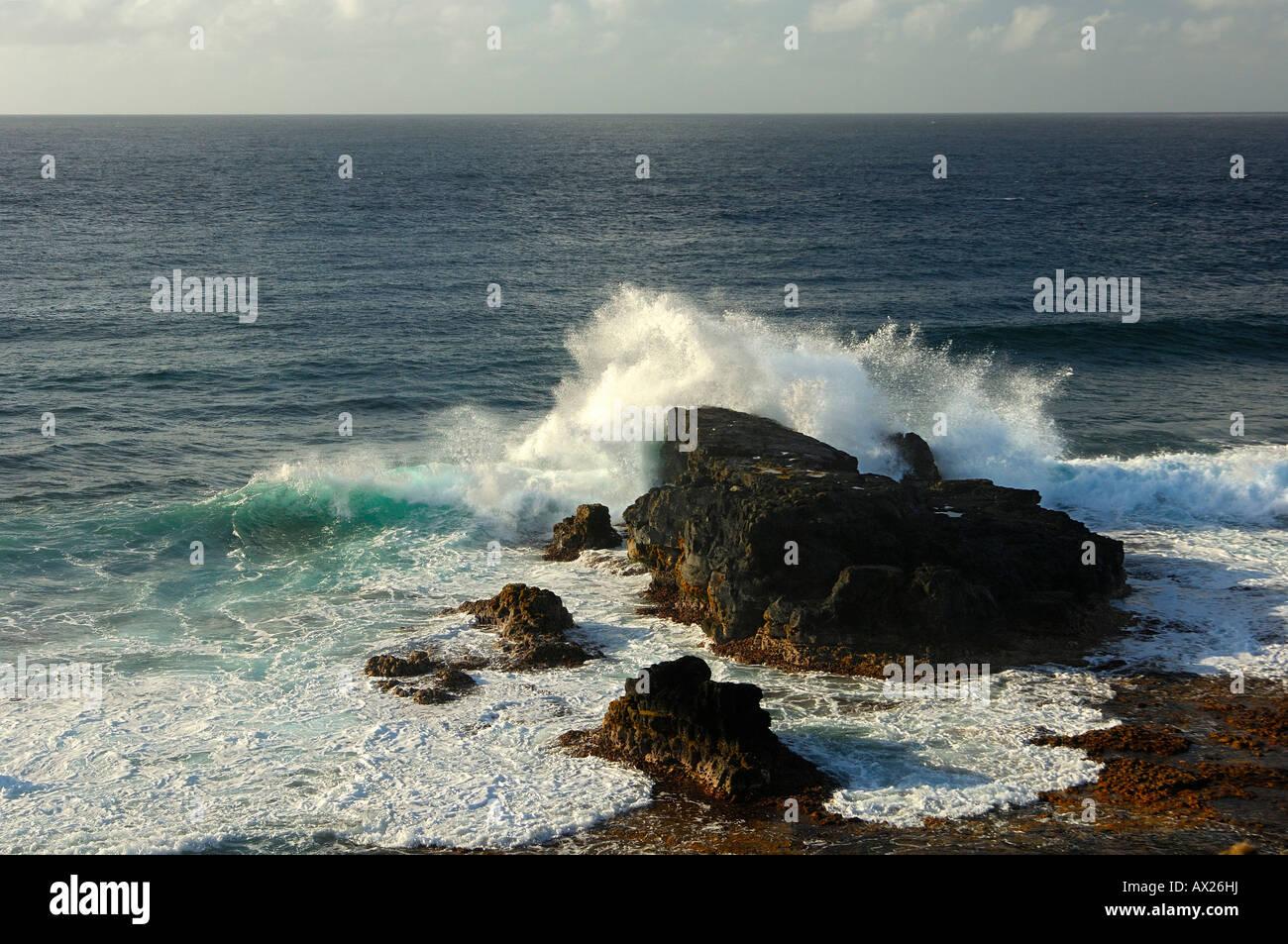 En el rock, breakres Gris-Gris, Mauricio Imagen De Stock