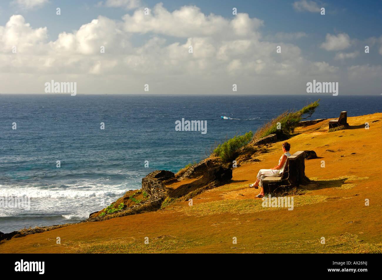 Gris-Gris mirador sobre el acantilado, Souillac, Mauricio Imagen De Stock