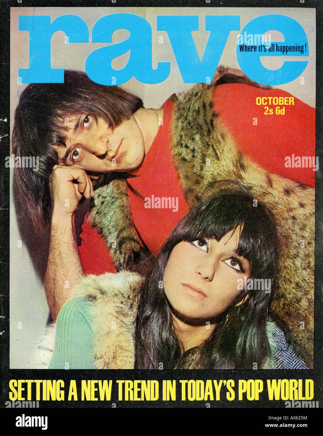 1960 Rave Magazine de octubre de 1965 SÓLO PARA USO EDITORIAL Imagen De Stock