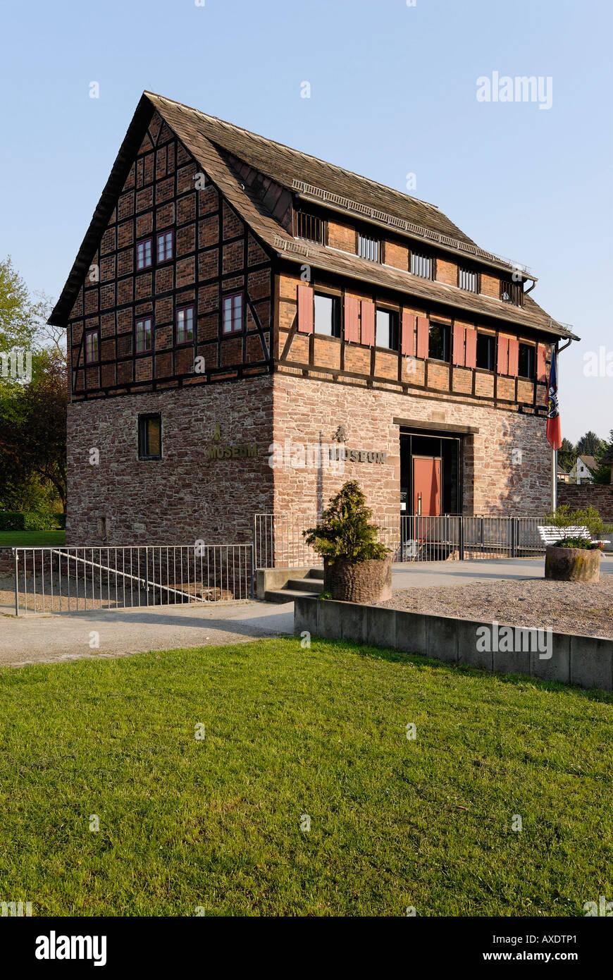 En Bodenwerder el Weser, cerca de Holzminden Baja Sajonia Alemania Museo Muenchhausen Foto de stock