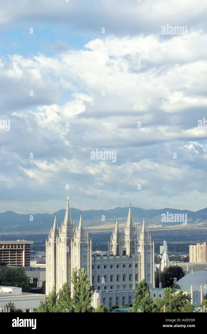 El Templo Mormón en el centro de Salt Lake City Foto de stock