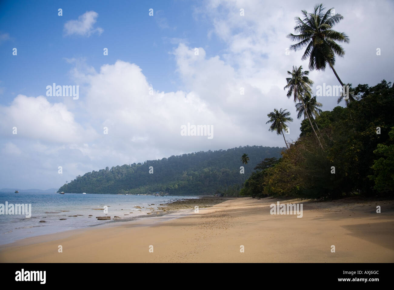 Playa en Air Batang village. La isla de Tioman. Malasia Foto de stock