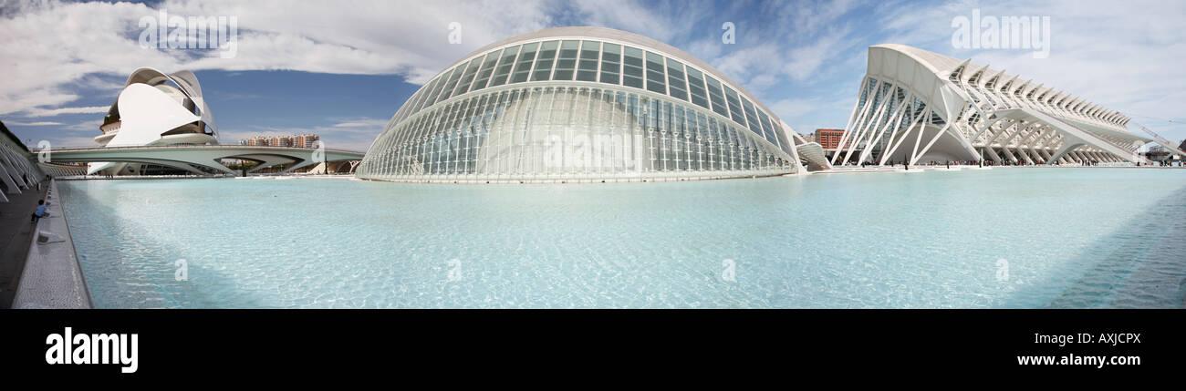 """La """"Ciudad de las Artes y las Ciencias' o 'Ciudad de las Artes y las Ciencias"""" diseñado por Imagen De Stock"""