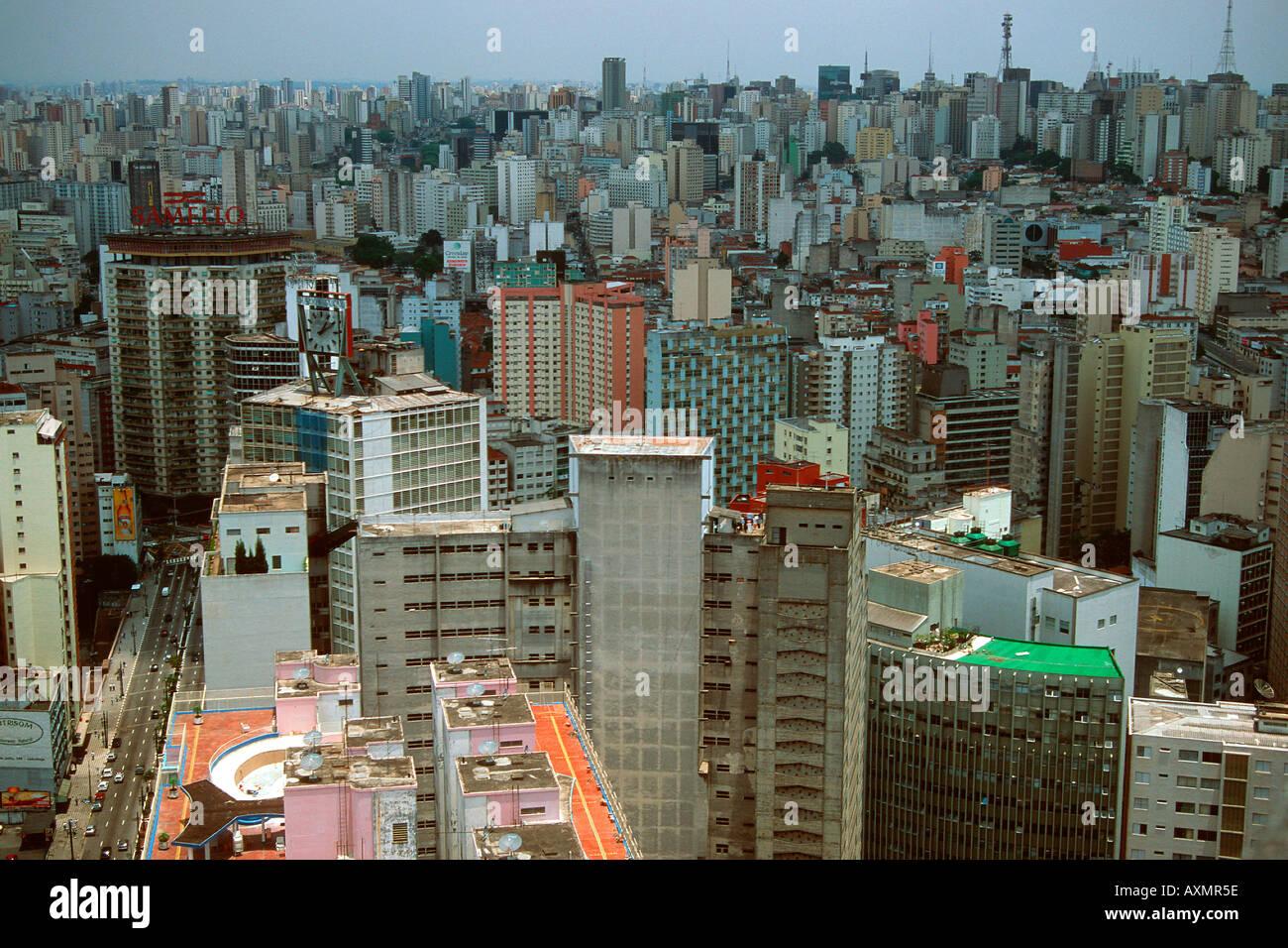 Vista aérea de los edificios en el centro de São Paulo, Brasil Imagen De Stock