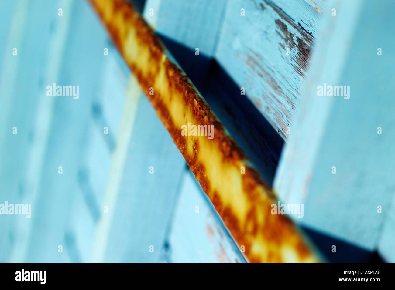 Visión abstracta de un oxidado bar en una cabaña en la playa Imagen De Stock