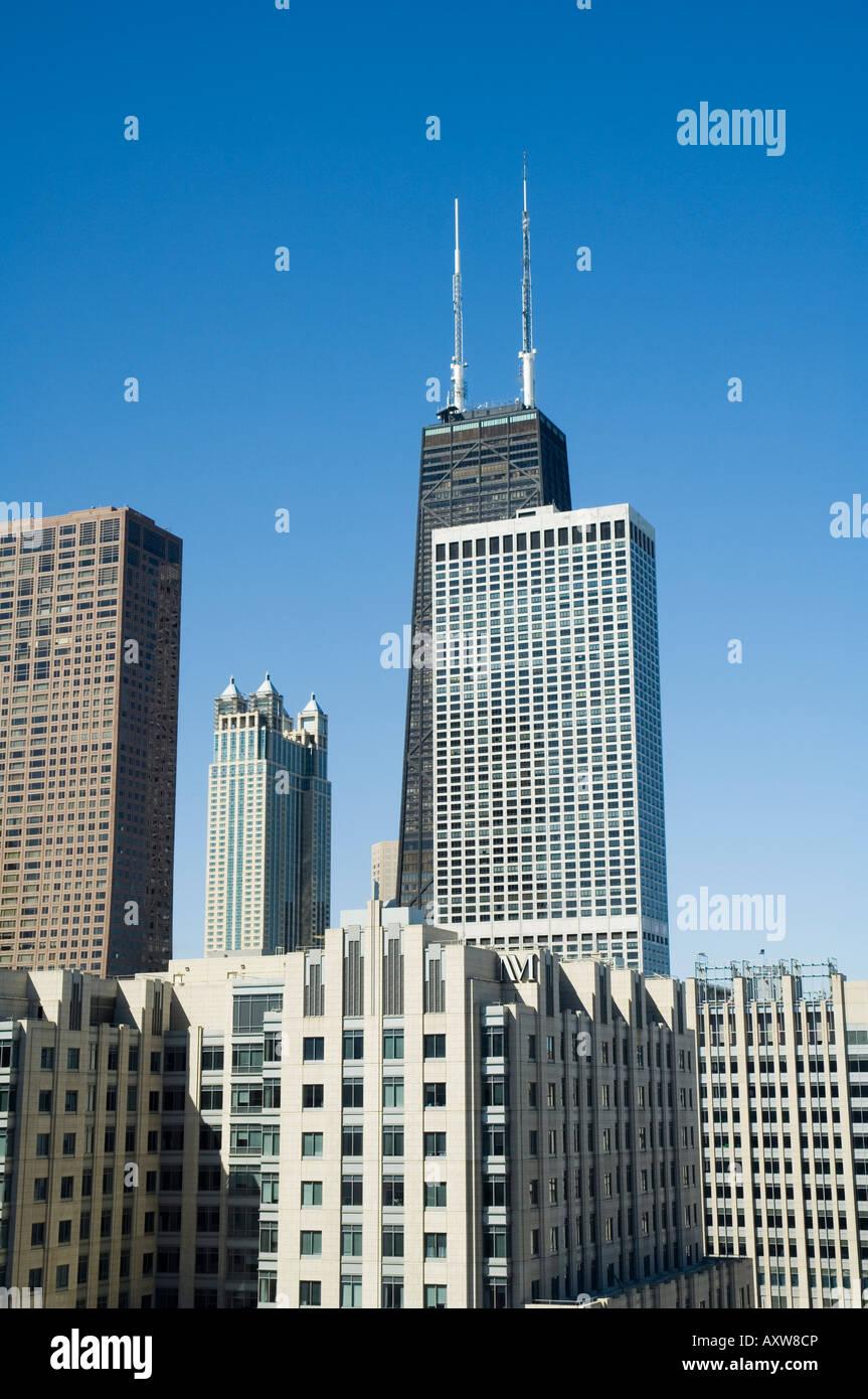 El John Hancock Center, Chicago, Illinois, EE.UU. Imagen De Stock