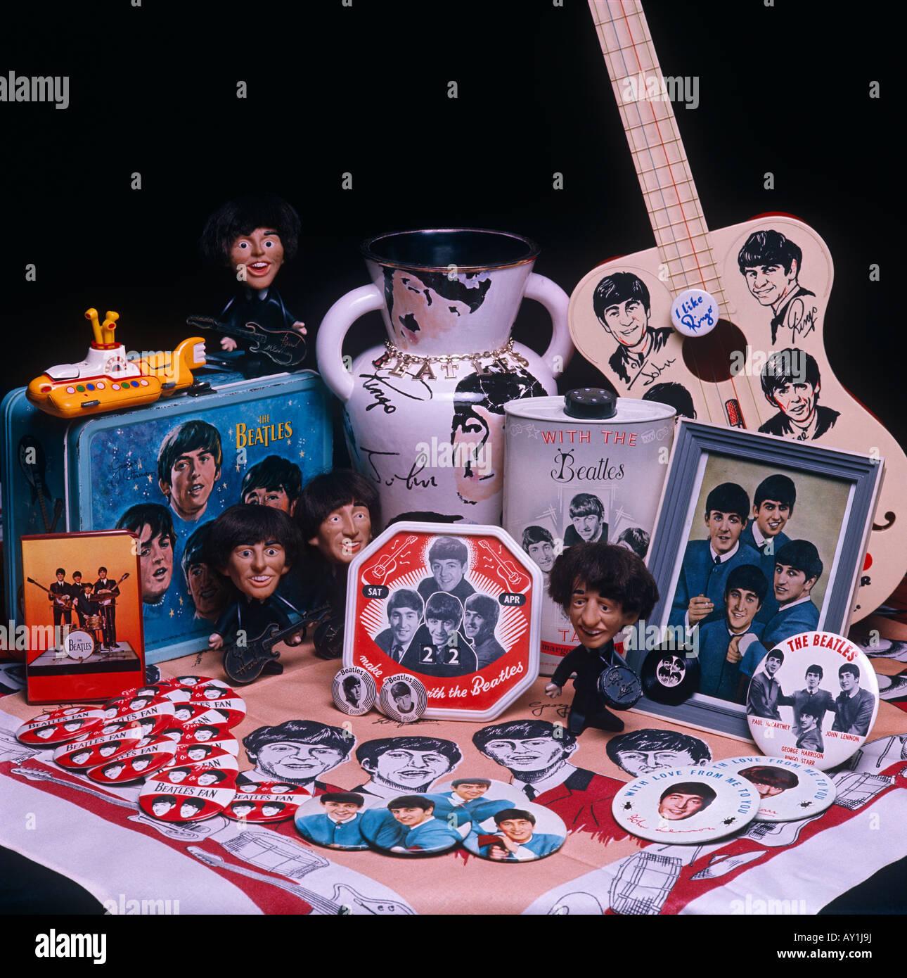 Memorabilia Beatles y coleccionables Foto de stock
