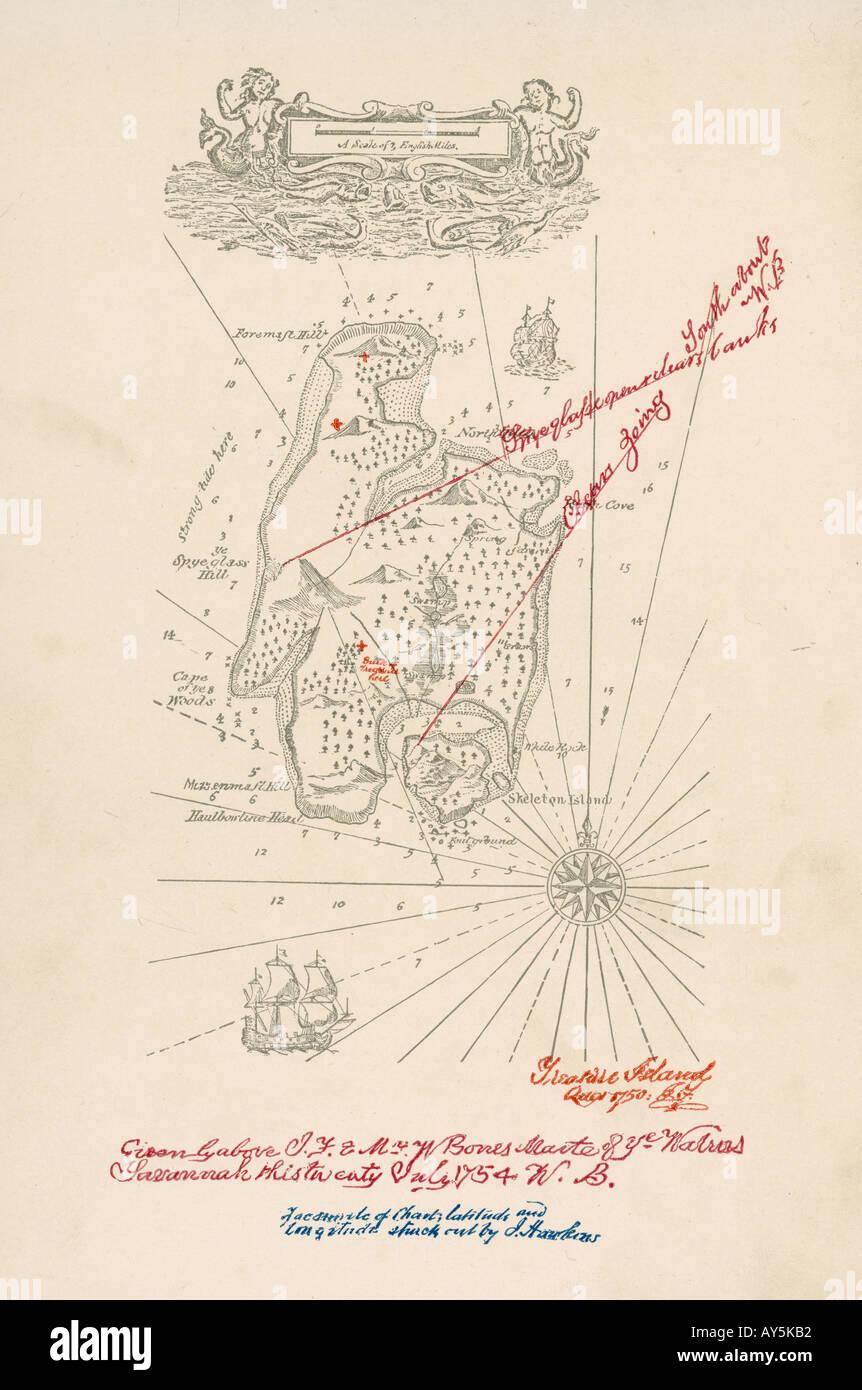 Mapa Isla Del Tesoro.Mapa De La Isla Del Tesoro Foto Imagen De Stock 5550001