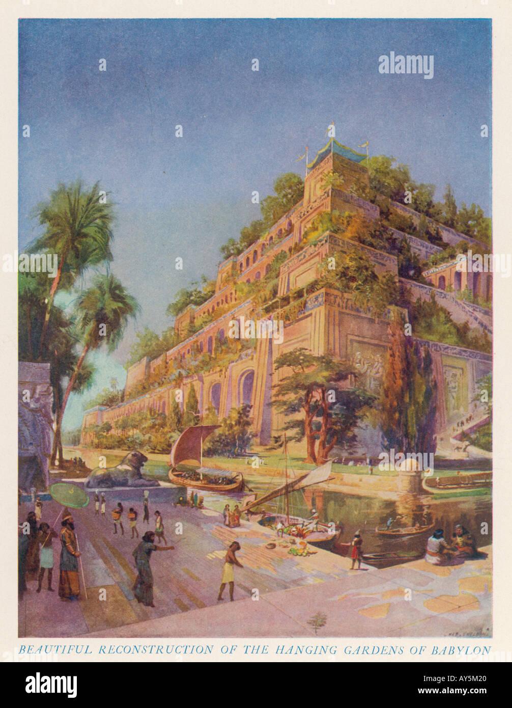 Jardines Colgantes De Babilonia Imagenes De Stock Jardines