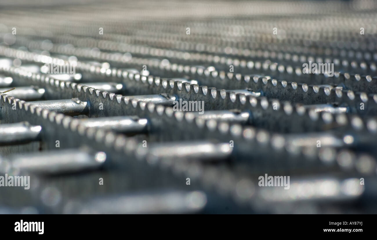 Imagen abstracta de metal de acero paseo de rodadura Imagen De Stock