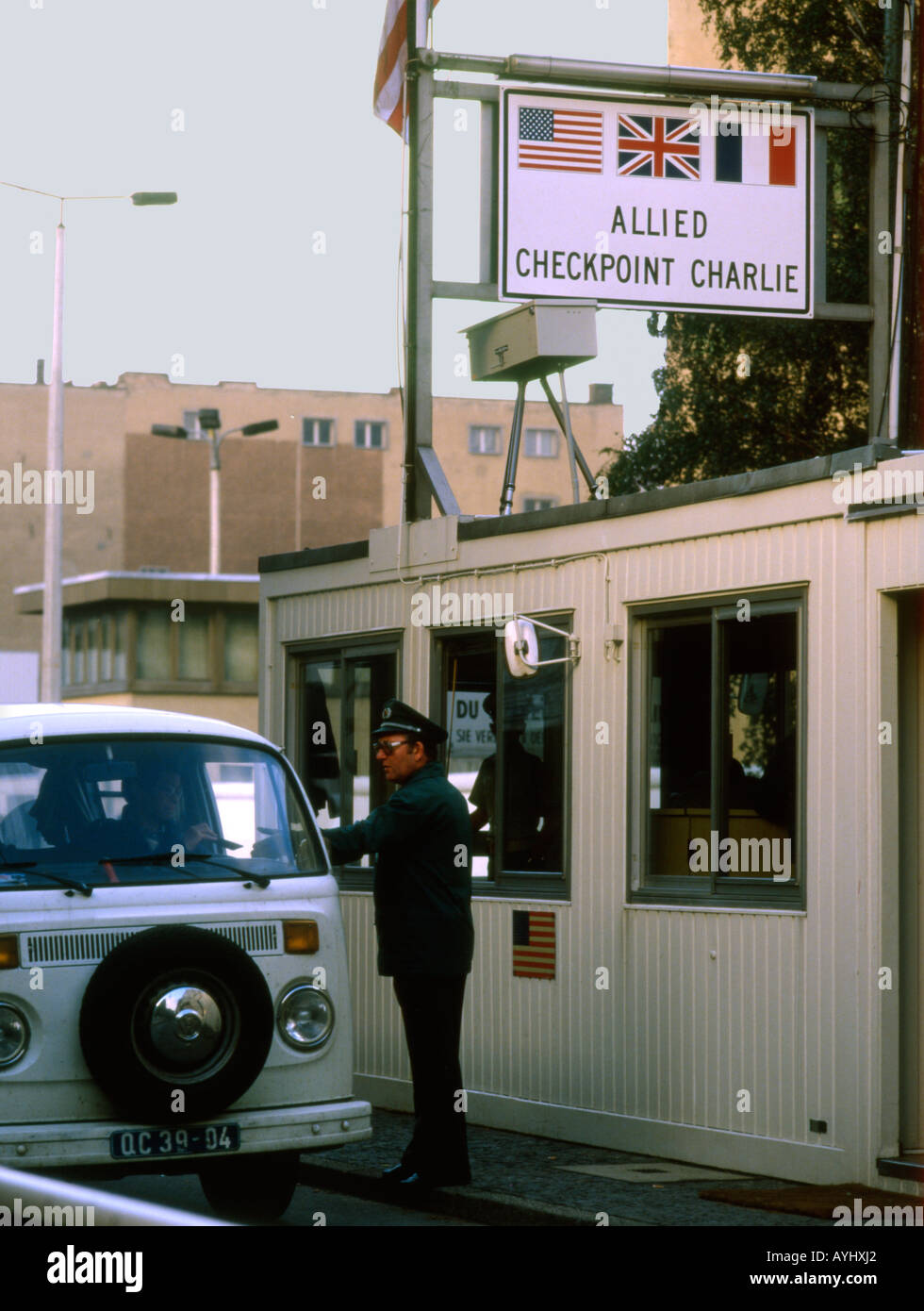 Alemania. Berlín. El Checkpoint Charlie, durante la guerra fría Imagen De Stock