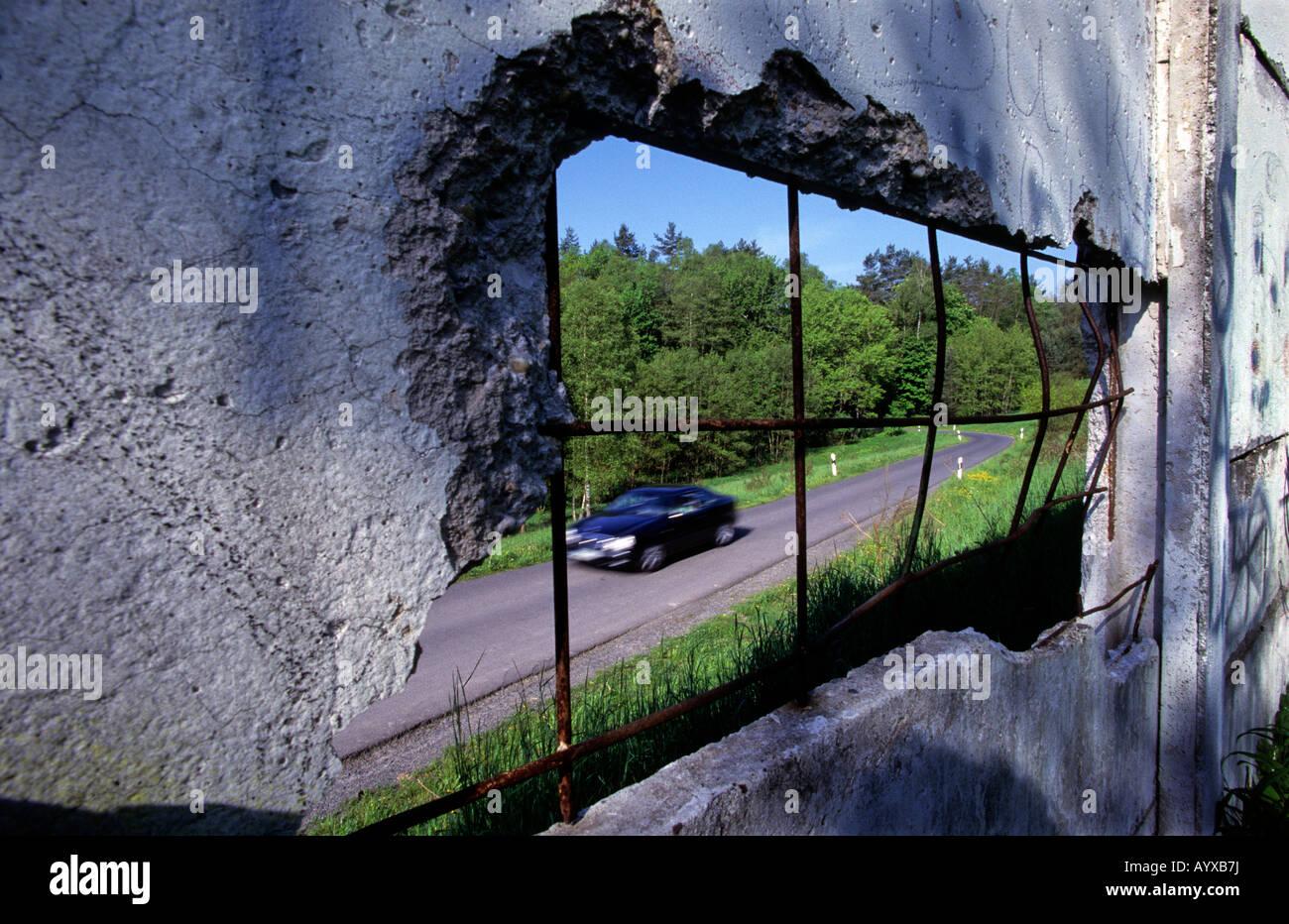 Guerra Fría Alemania pared divisoria DDR MERCEDES Imagen De Stock