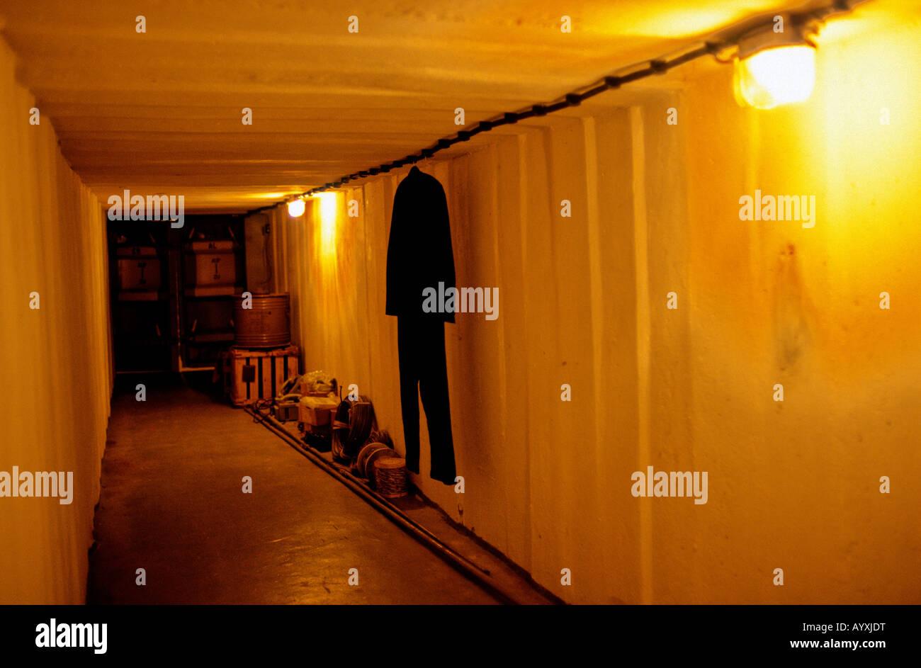 Alemania STASSI bunker secreto guerra fría pared divisoria DDR Imagen De Stock