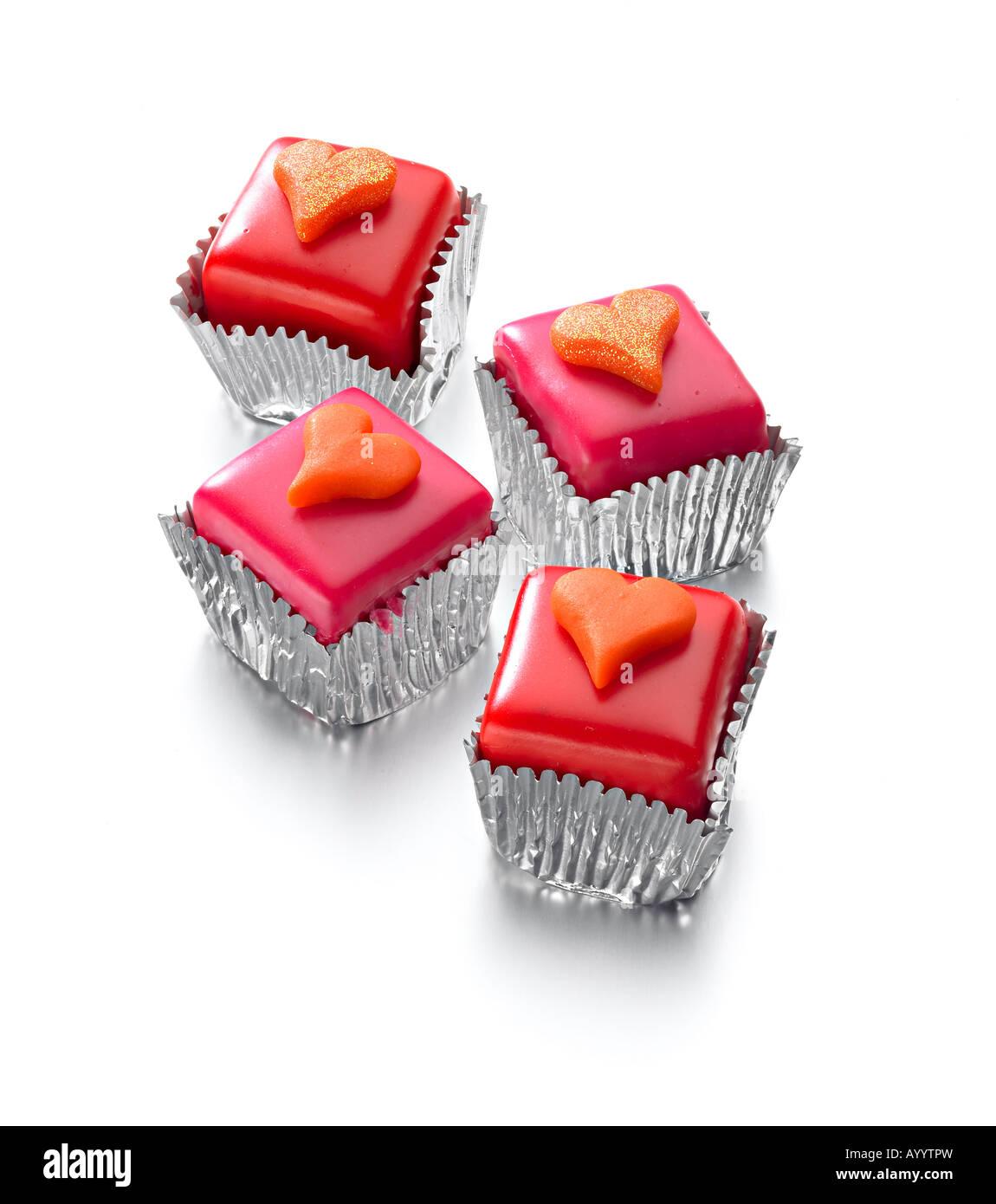 pasteles de corazón Foto de stock