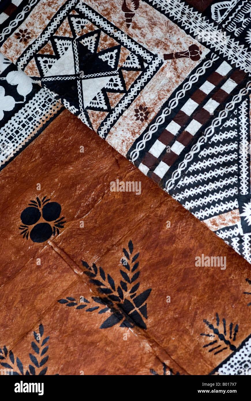 Suva Fiji paño de tapas a la venta en el mercadillo de artesanía Imagen De Stock