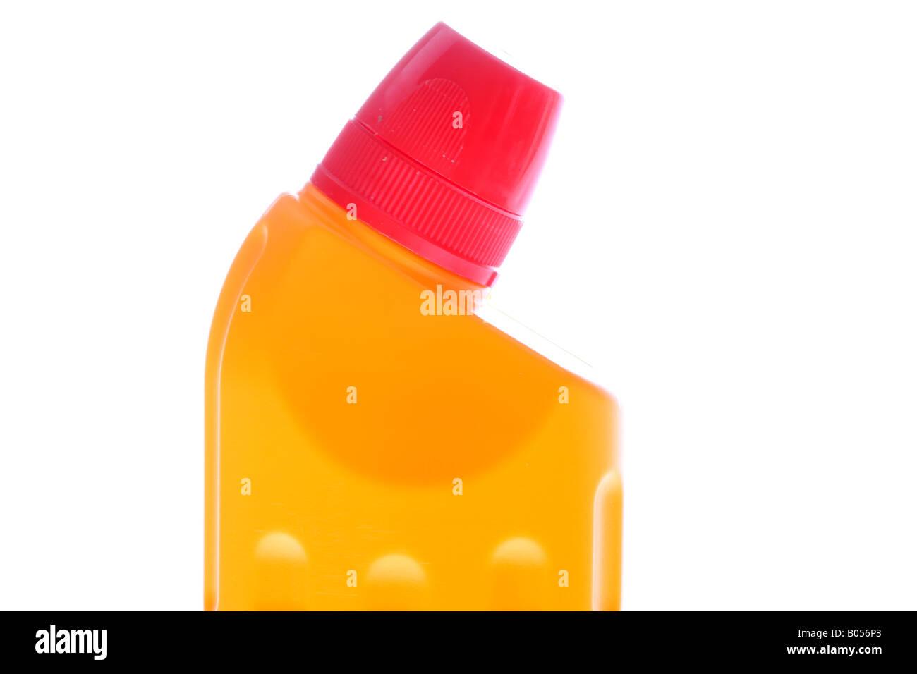 Botella de lejía Foto de stock