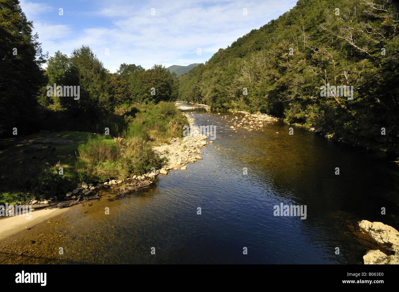 Río Inangahua Buller, Isla del Sur, Nueva Zelanda Foto de stock