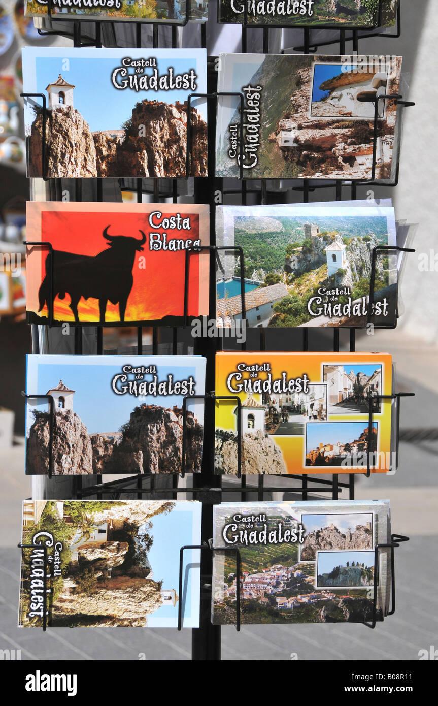 Presentoirs de Comptoir, Guadalest, Costa Blanca, España Foto de stock