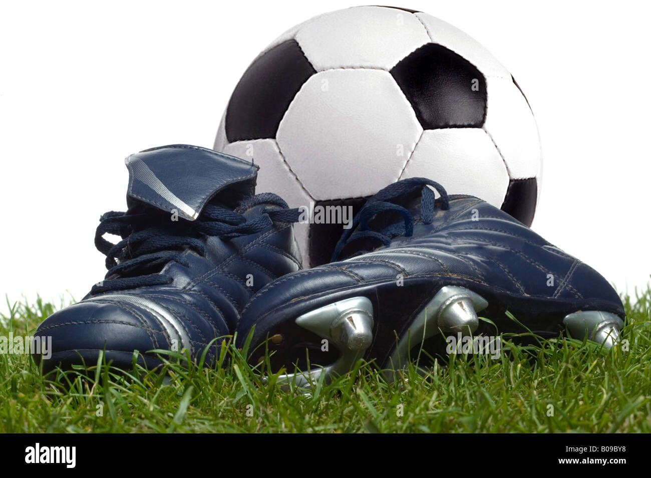 Leather Football Boots Imágenes De Stock   Leather Football Boots ... 4d5945cc2faa6