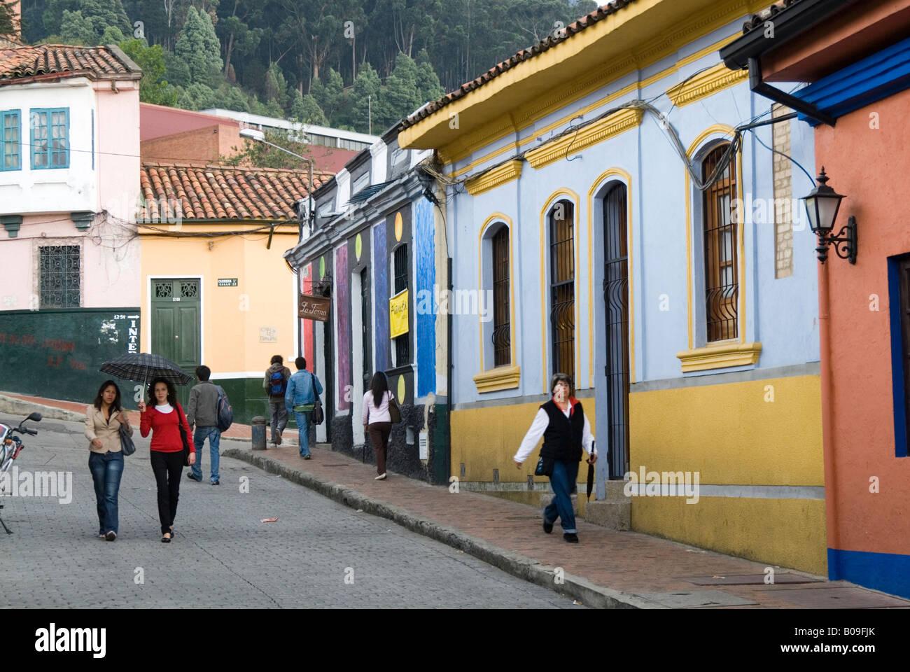 Calle de La Candelaria, Bogotá, Colombia Imagen De Stock