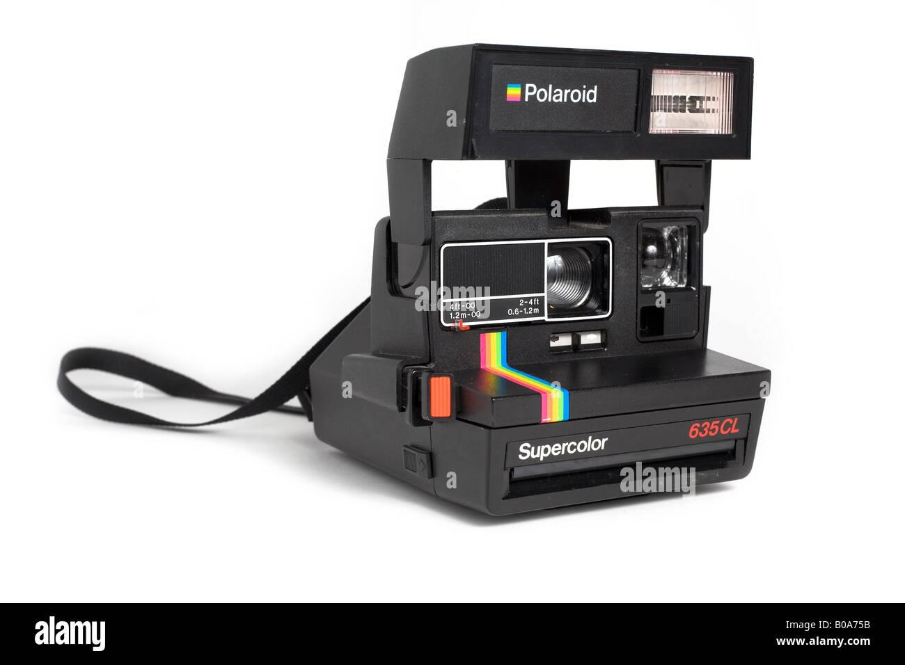 Cámara polaroid supercolor Imagen De Stock