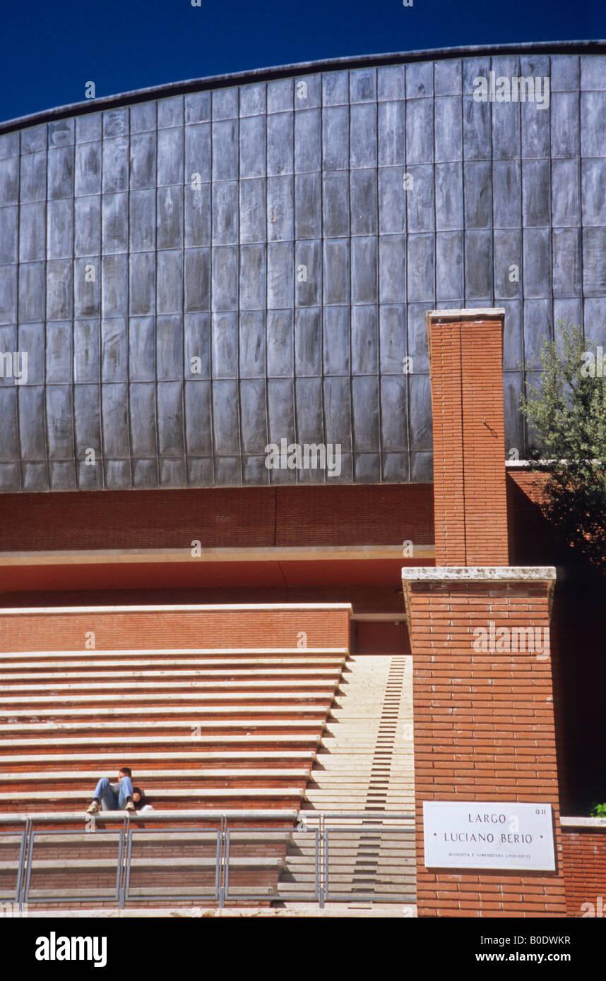 Auditorio Parco della Musica, por el arquitecto Renzo Piano, Roma, Lazio, Italia Foto de stock