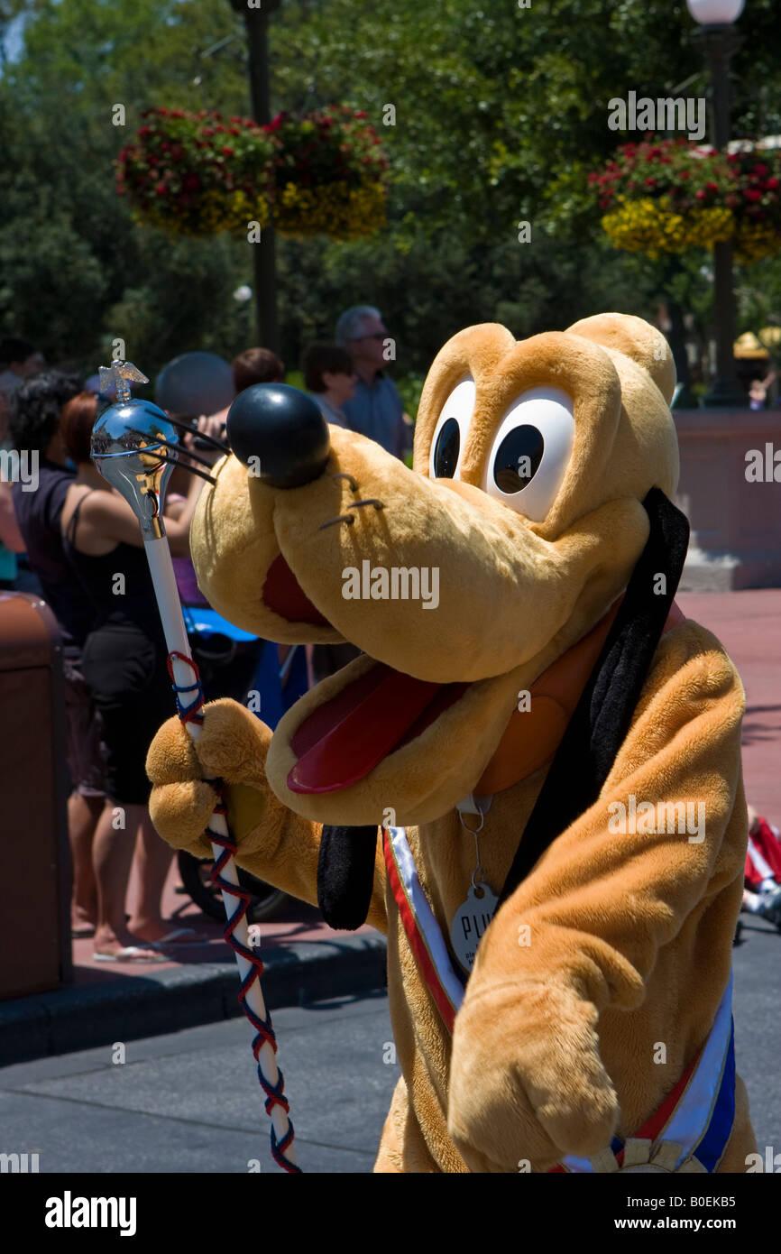 Goofy Desfile Carácter en Walt Disney World Resort en Orlando, Florida Foto de stock