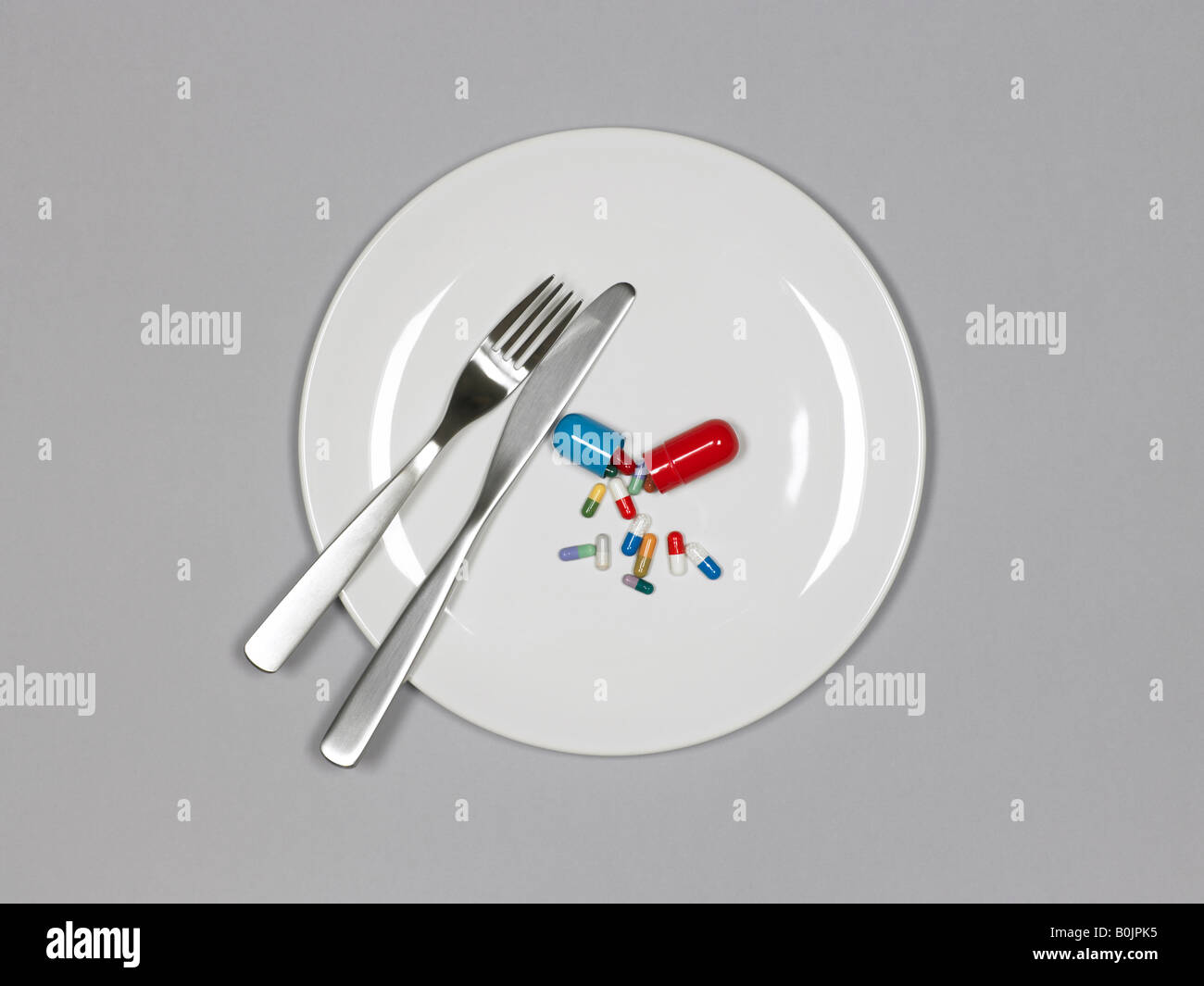 pastillas en placa Imagen De Stock