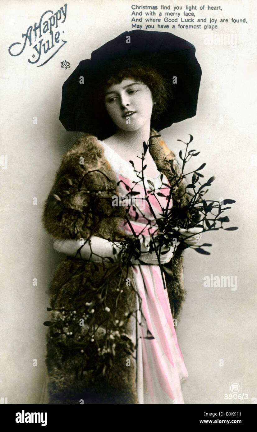"""""""Un feliz Yule', de 1913. Imagen De Stock"""