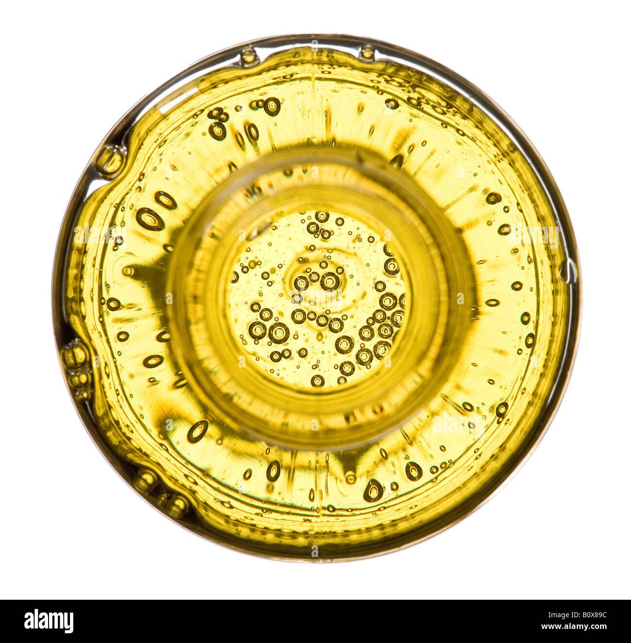 Botella de champú desde arriba Imagen De Stock