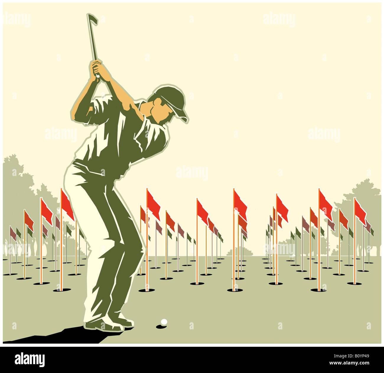 Jugador de golf Foto de stock