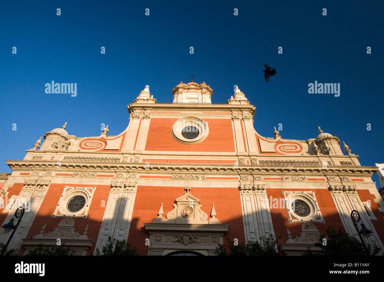 Fachada de la iglesia del Salvador, Sevilla, España Imagen De Stock