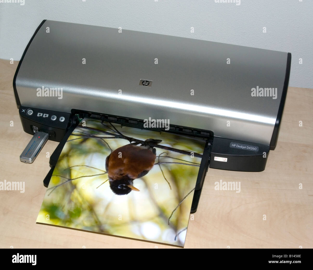 Impresora de inyección de tinta color de impresión fotográfica en color Imagen De Stock