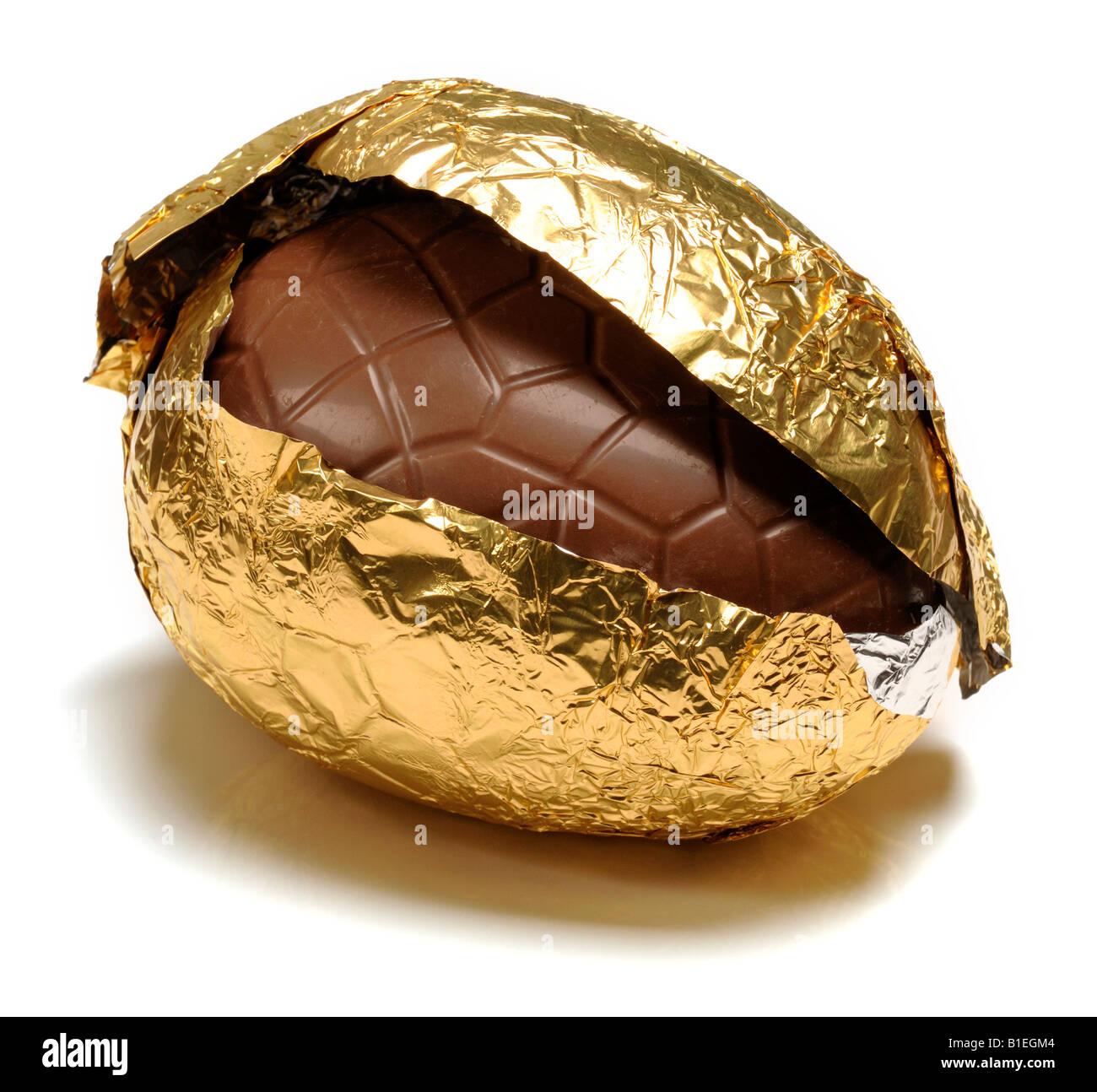 Huevo de pascua de chocolate Imagen De Stock