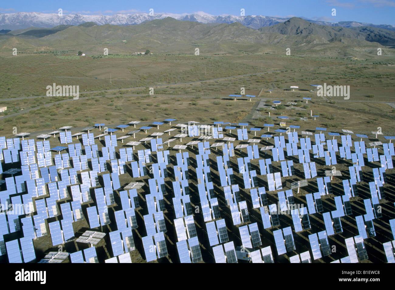 La Plataforma Solar de Almería es el centro s es el mayor centro de investigación de desarrollo y pruebas Imagen De Stock