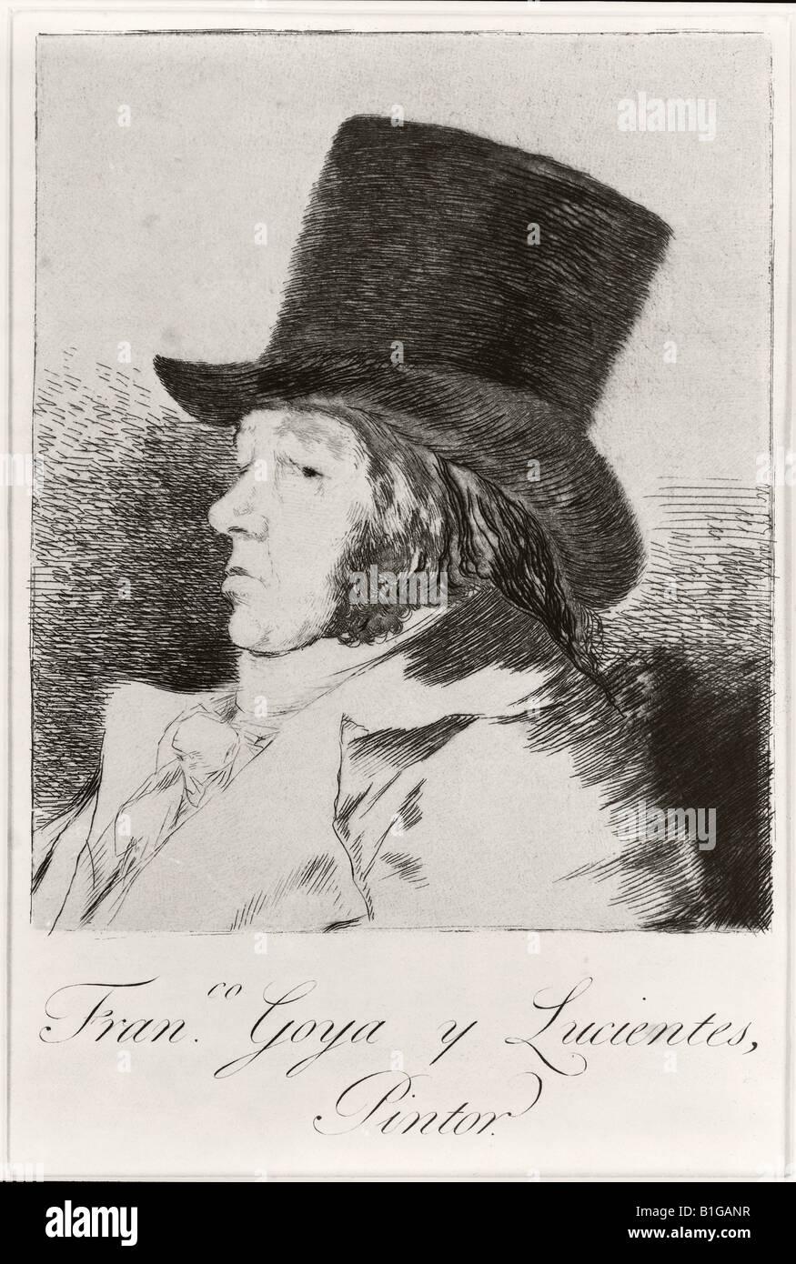 Francisco José de Goya y Lucientes 1746 a 1828 el pintor y grabador español autorretrato Foto de stock
