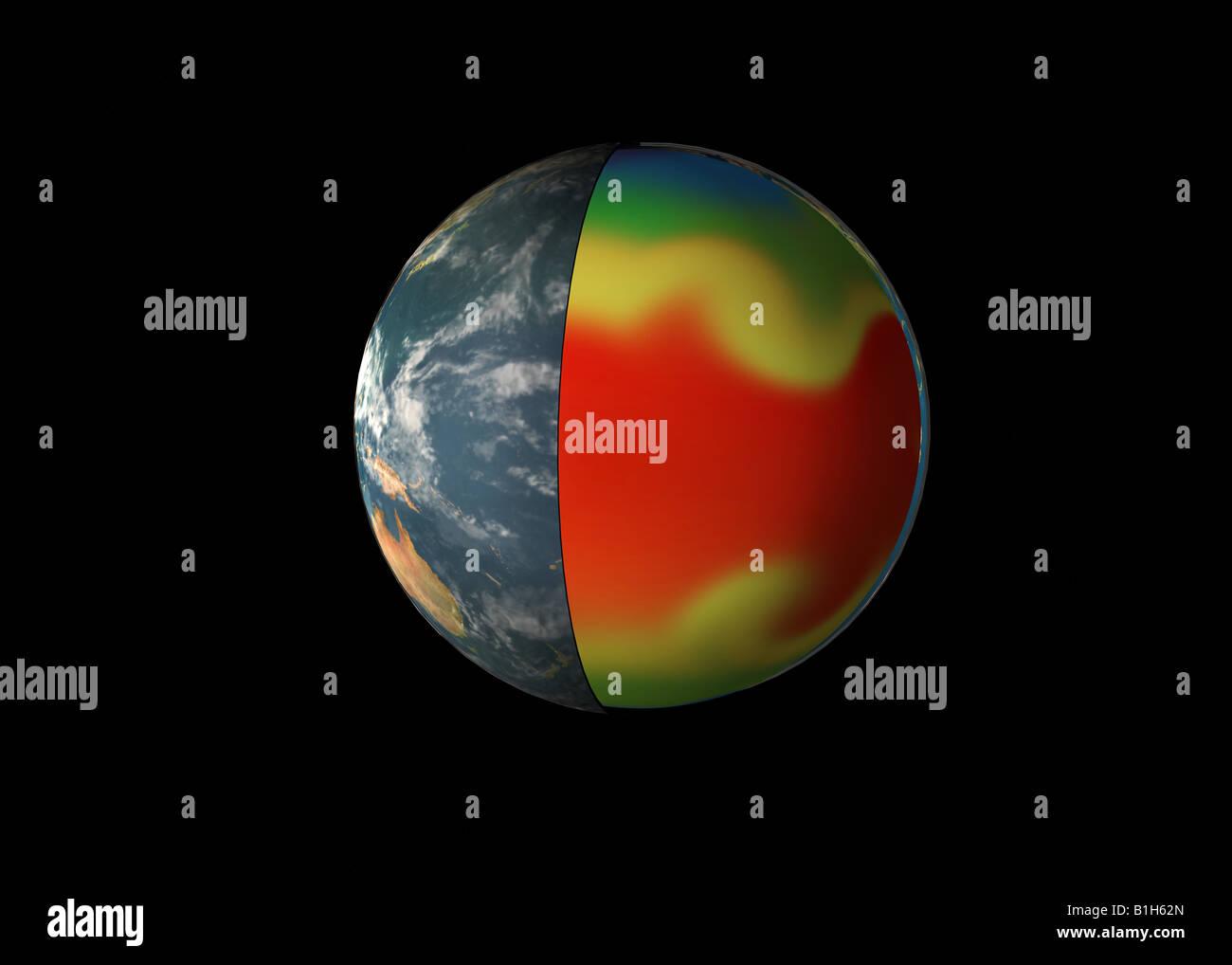 Planeta afectados por el calentamiento global Imagen De Stock