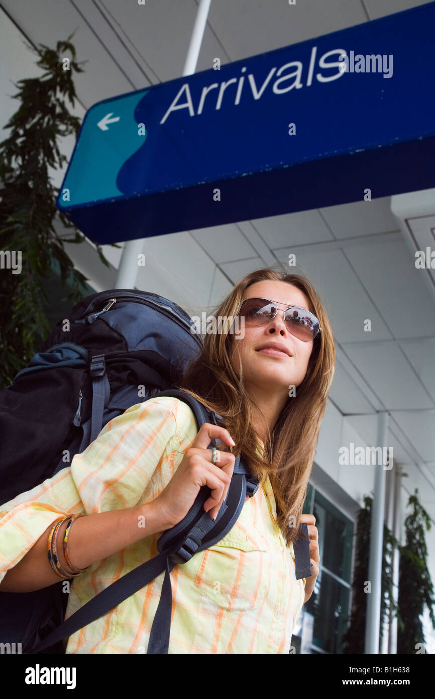Backpacker - Cairns, Queensland, Australia Imagen De Stock