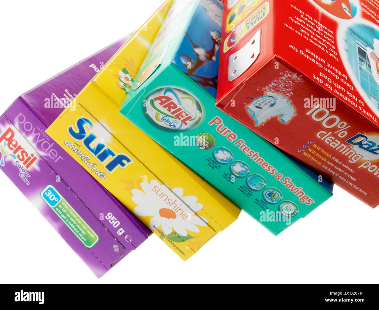Los polvos de lavar Foto de stock
