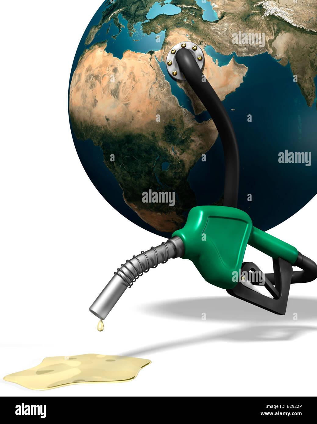 La gasolina y el concepto de crisis energética. Foto de stock