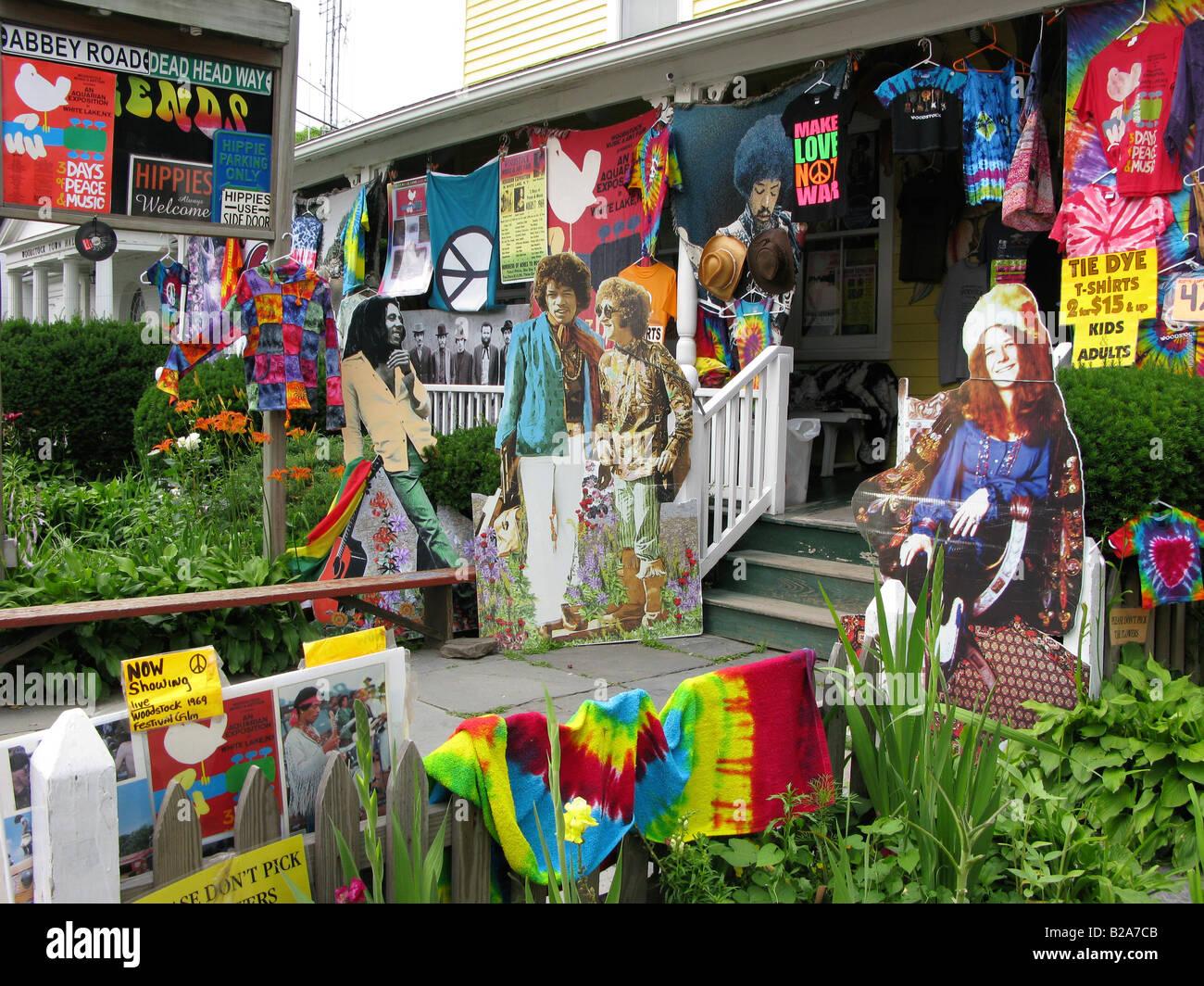 Venta de artículos relacionados con el festival de Woodstock 1969 Imagen De Stock