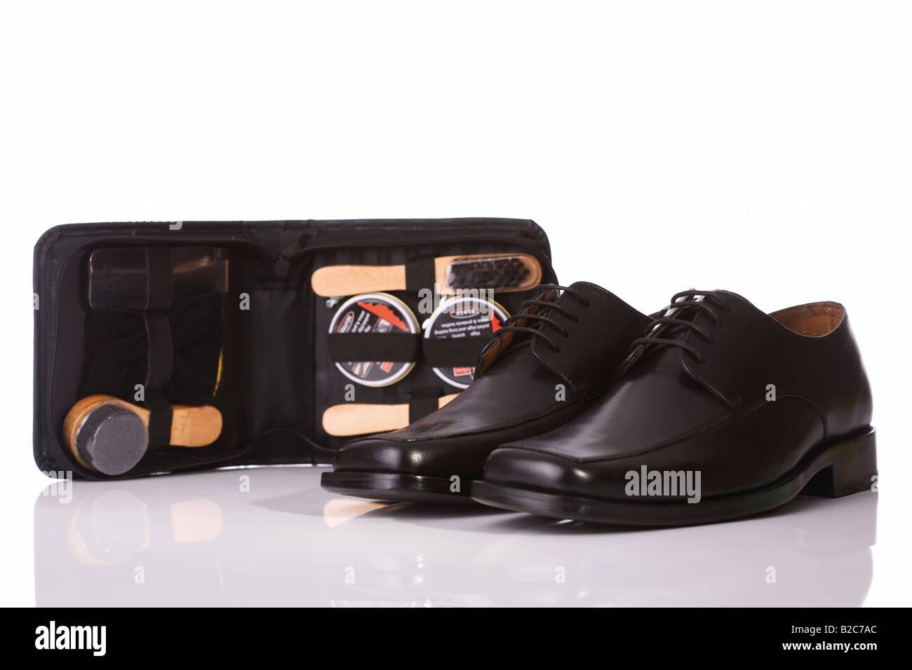 Set Zapatos Para Hombres De Negro Los El Cuero Productos xYnRdIdfq