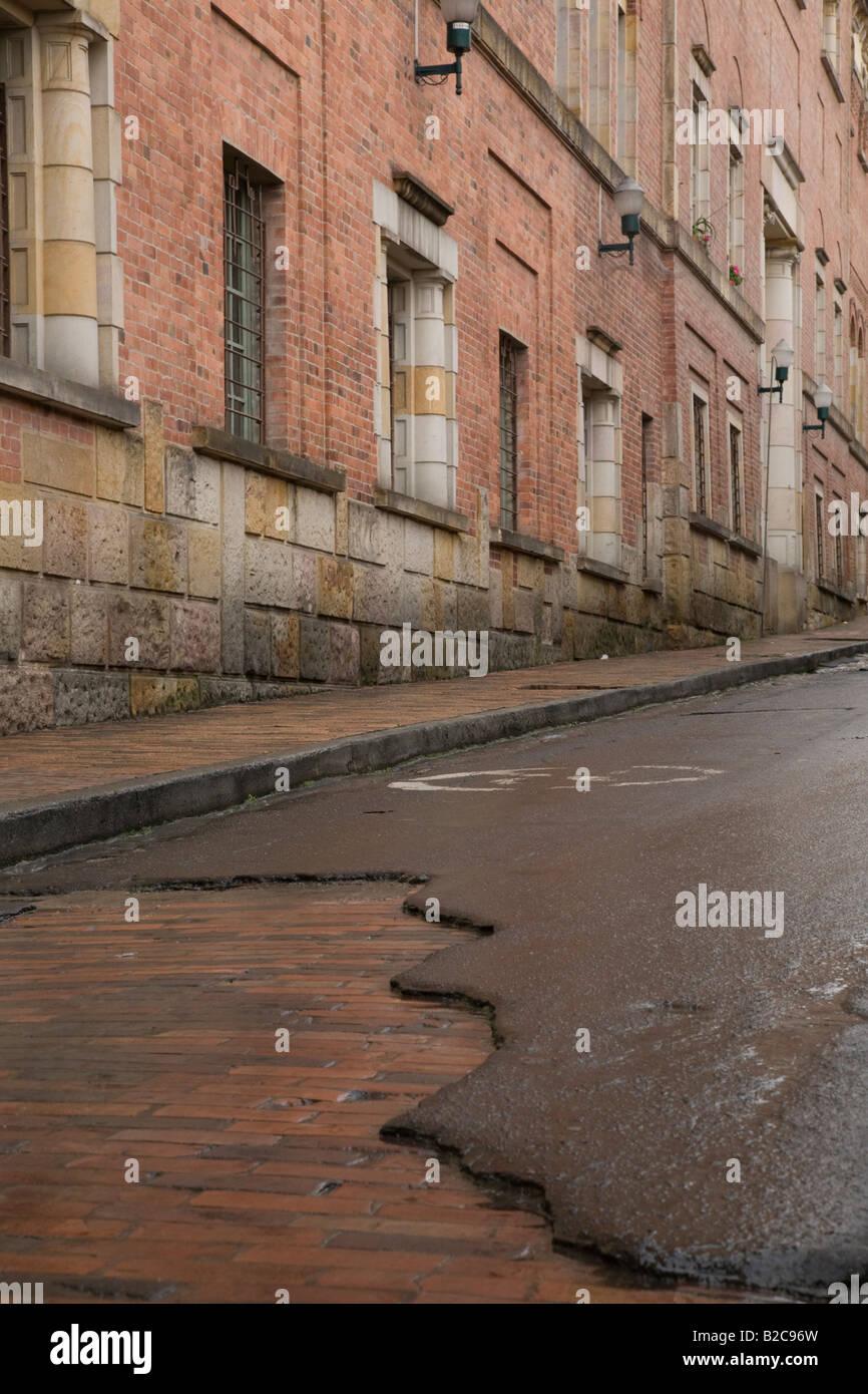 Las calles de la Candelaria, Bogotá. Imagen De Stock